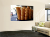 Ice Cream Cones in a Shop Window Poster by Oliver Strewe
