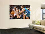 New Orleans Hornets v Miami Heat: Dwyane Wade and Aaron Gray Posters by James Riley