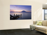 Jetty, Lake Atitlan and Volcano San Pedro, Dawn, Guatemala Posters by Michele Falzone