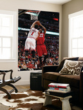 Miami Heat v Chicago Bulls - Game Two, Chicago, IL - MAY 18: Udonis Haslem and Derrick Rose Prints by Gregory Shamus