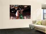 Boston Celtics v Miami Heat - Game Two, Miami, FL - MAY 3: Kevin Garnett and LeBron James Print by Victor Baldizon
