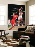 Los Angeles Clippers v Chicago Bulls: Carlos Boozer and DeAndre Jordan Print by Randy Belice