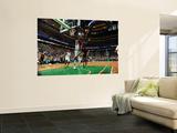 Miami Heat v Boston Celtics - Game Four, Boston, MA - MAY 9: LeBron James and Jermaine O'Neal Art by Brian Babineau