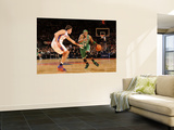 Boston Celtics v New York Knicks: Paul Pierce and Danilo Gallinari Art by Lou Capozzola