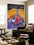 Houston Rockets v Sacramento Kings: Kyle Lowry and Carl Landry Print by Rocky Widner