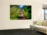 Bus Travelling on Island Road, Upolu, Samoa Prints by Peter Hendrie