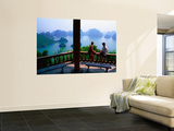 Balcony on Summit of Titop Island, Overlooking Limestone Islands Prints by Mark Daffey