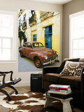 Vintage Car Parked Outside House in Vieja District Posters by Christian Aslund