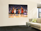 Miami Heat v Dallas Mavericks - Game Three, Dallas, TX -June 5: Dwyane Wade and LeBron James Prints by Garrett Ellwood