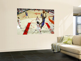 Sacramento Kings v Houston Rockets: Carl Landry and Jordan Hill Posters by Bill Baptist