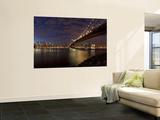 Manhattan Bridge and Brooklyn Bridge, New York City, USA Poster by Michele Falzone