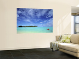 Kayaker, Muri Beach, Rarotonga, Cook Islands 高画質プリント : ウォルター・ビビコウ