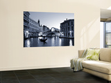 Gondola by the Rialto Bridge, Grand Canal, Venice, Italy Print by Alan Copson