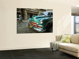 Vintage 1950's Car Parked on Street in Vedado District Prints by Christian Aslund
