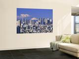 Mt.Fuji and Tokyo Shinjuku Area Skyline, Tokyo, Japan Posters by Steve Vidler