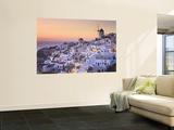 Greece, Cyclades, Santorini, Oia Town and Santorini Caldera Poster af Michele Falzone