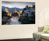 Mostar and Old Bridge over the Neretva River, Bosnia and Herzegovina Art by Gavin Hellier