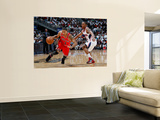 Chicago Bulls v Atlanta Hawks - Game Four, Atlanta, GA - MAY 08: Jeff Teague and Derrick Rose Prints by Kevin Cox