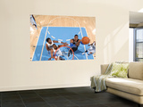 Orlando Magic v Denver Nuggets: Dwight Howard and Shelden Williams Prints by Garrett Ellwood