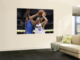 Oklahoma City Thunder v Dallas Mavericks - Game Two, Dallas, TX - MAY 19: Dirk Nowitzki and Serge I Prints by Ronald Martinez