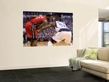 Miami Heat v Dallas Mavericks - Game Four, Dallas, TX -June 7: LeBron James and DeShawn Stevenson Prints by Mike Ehrmann