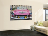 Classic Pink Desoto Taxi Car Prints by Frank Carter
