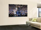 Oklahoma City Thunder v Dallas Mavericks - Game TwoDallas, TX - MAY 19: Brendan Haywood and Nick Co Print by Glenn James