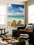 Couple Relaxing on Beach at Lanikai on Windward Side of Oahu Prints by Ann Cecil