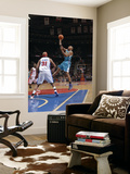 New Orleans Hornets v Detroit Pistons: David West and Charlie Villanueva Print by Allen Einstein