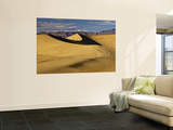 Hikers at Mesquite Flat Sand Dunes with Amargosa Range in Background Print by Witold Skrypczak