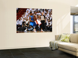 Dallas Mavericks v Miami Heat - Game Two, Miami, FL - JUNE 2: Dwyane Wade and DeShawn Stevenson Art by Garrett Ellwood
