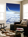 Wing of Boeing 767 with Clouds over Southwestern Australia Print by Greg Elms