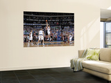 Portland Trailblazers v Dallas Mavericks - Game Five, Dallas, TX - APRIL 25: Marcus Camby and Tyson Print by Glenn James