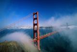 Golden Gate Bridge with Mist and Fog, San Francisco, California, USA Plakater af Steve Vidler