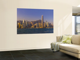 Skyline of Hong Kong Island from Kowloon, Hong Kong, China Posters by Michele Falzone