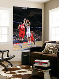 Philadelphia 76ers v New Jersey Nets: Brook Lopez and Spencer Hawes Prints by  David