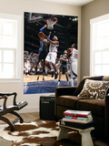 Orlando Magic v Atlanta Hawks - Game Six, Atlanta, GA - APRIL 28: Joe Johnson and Dwight Howard Print by Scott Cunningham