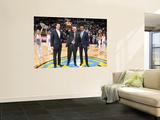 Orlando Magic v Denver Nuggets: Josh Kroenke, Masai Ujiri and George Karl Posters by Garrett Ellwood