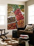 Vietnam, Ho Chi Minh City, Ben Thanh Market, Fruit Display Plakater af Steve Vidler