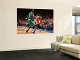 Boston Celtics v New York Knicks - Game Four, New York, NY - April 24: Carmelo Anthony and Kevin Ga Prints