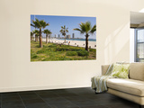 Oceanfront Promenade and Beach Print by John Elk III
