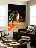 Boston Celtics v New York Knicks: Amar'e Stoudemire and Kevin Garnett Posters by Lou Capozzola
