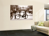 Bike on Bridge and Canal, Amsterdam, Holland Prints by Jon Arnold