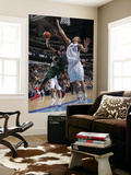 Milwaukee Bucks v Dallas Mavericks: Luc Mbah a Moute and Dirk Nowitzki Prints by Glenn James