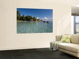 Anse Source d'Argent Beach, La Digue Island, Seychelles Plakater af Michele Falzone