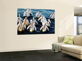 Pelicans on Lake Tana at Mango/Pelican Lake Prints by Tony Wheeler
