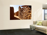 Narrow Alleyway Through Ruins of Desert Town Print by Feargus Cooney