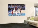 Miami Heat v Dallas Mavericks - Game Three, Dallas, TX -June 5: LeBron James and Ian Mahinmi Art by Glenn James