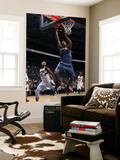 Charlotte Bobcats v Atlanta Hawks: Dominic McGuire and Josh Smith Print by Scott Cunningham