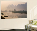 Li River and Limestone Mountains and River,Yangshou, Guangxi Province, China Kunst af Steve Vidler